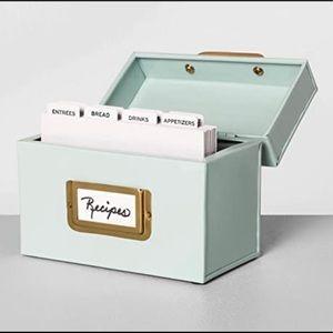 Hearth and Hand Recipe Box